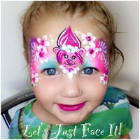 Goggle Let's Just Face It Face Painting Mackay Poppy