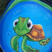 Google Let's Just Face It Face Painting Belly Bump Turtle
